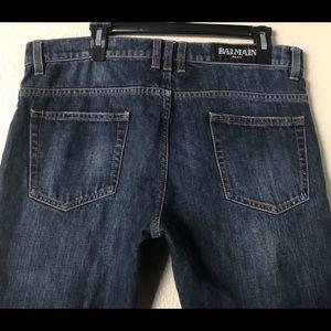 Balmain Paris Biker Stone Washed Jeans